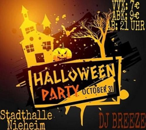 Halloween Party in der Stadthalle von Nieheim